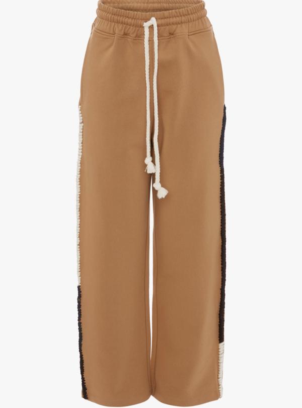 Wide Leg Track Pants braun