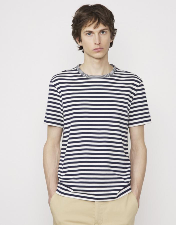 T-shirt blau/weiß