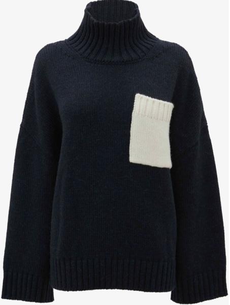 J.W.Anderson Pullover Tasche blau