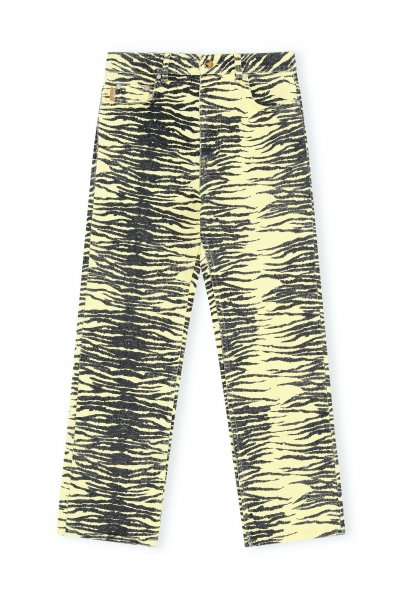 Ganni Pants Yellow Zebra