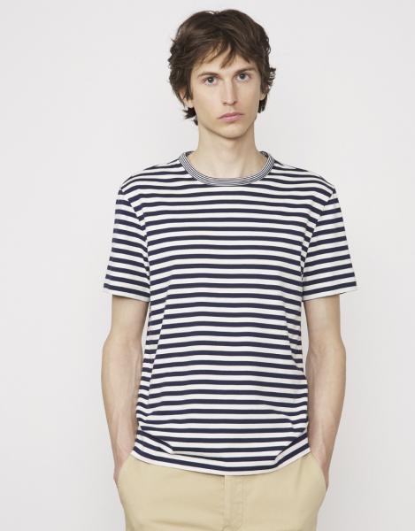 Officine T-shirt blau/weiß