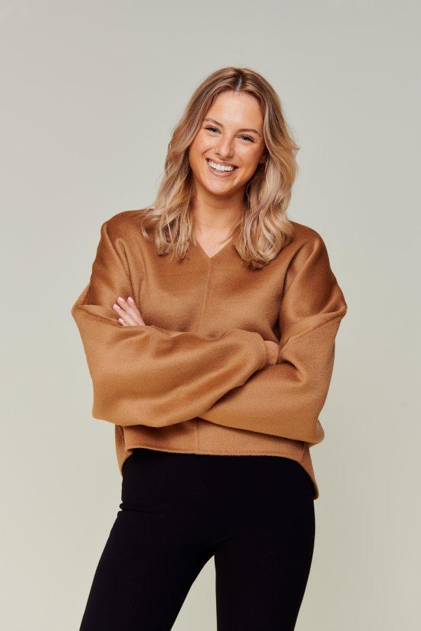 Merino knit brown