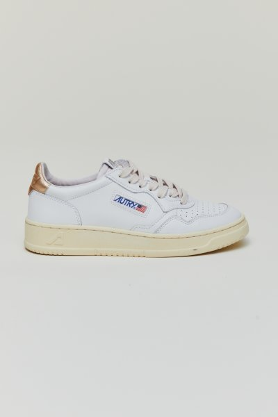 Autry Action shoes Leather white gold Women