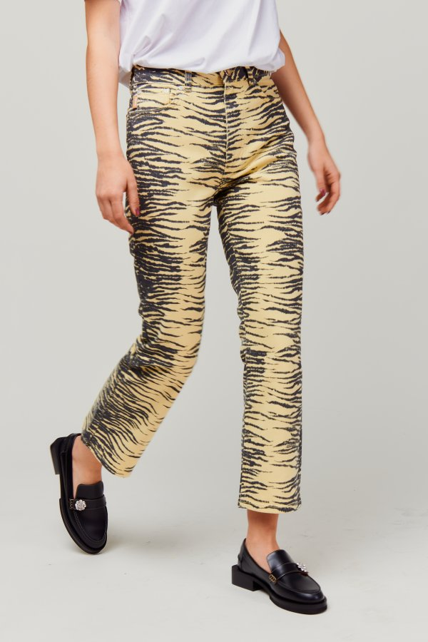 Pants Yellow Zebra