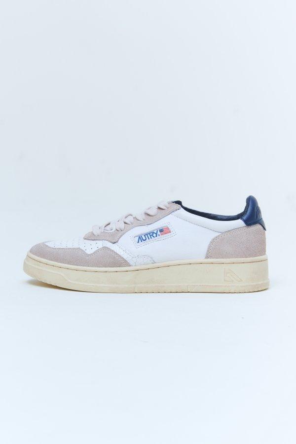 Sneaker white blue woman