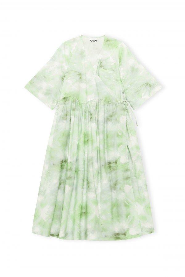 Dress Green gerafft