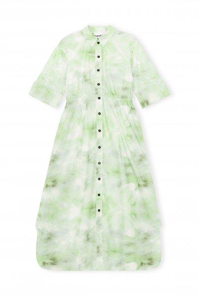 Ganni Printer Green Dress