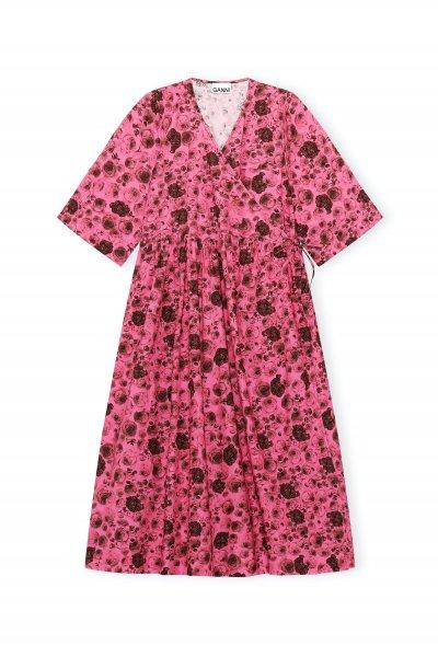 Ganni Pink Printed Dress