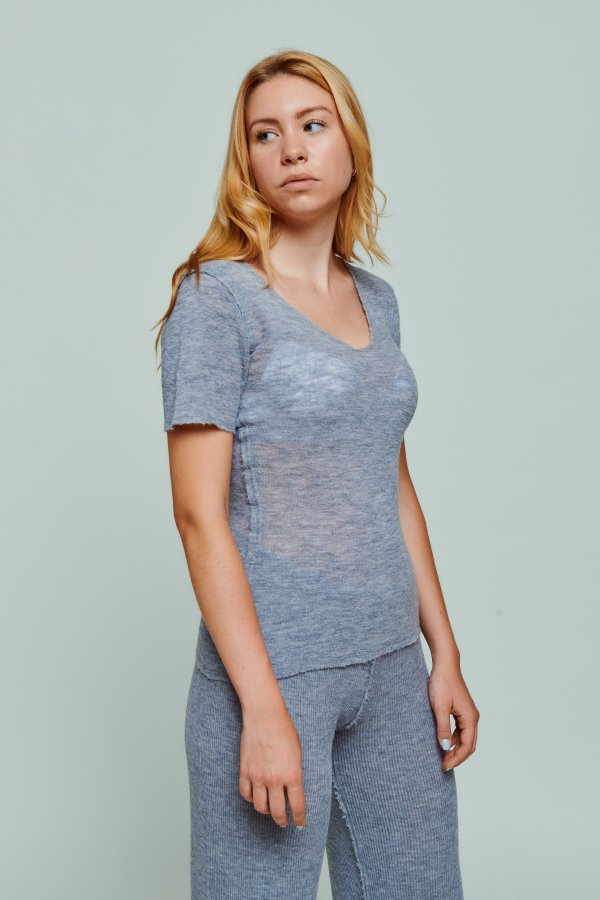 T-shirt grau Barbara