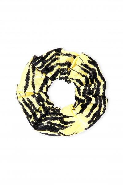 Ganni Yellow Printed Scrunchy