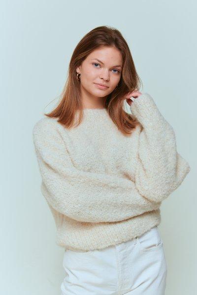 Malaika Raiss Pullover Jumper Charly off white