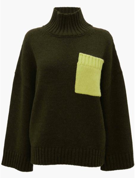 J.W.Anderson Pullover Tasche grün