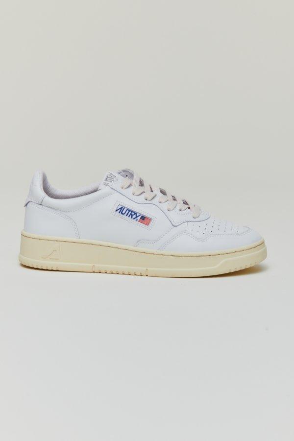 Leat/White Man Shoe