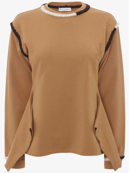 J.W.Anderson Asymmetric Contrast sweatshirt