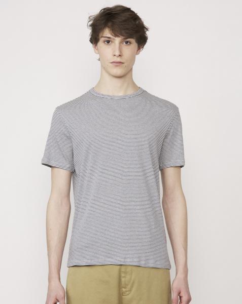 Officine Knit Tee Shirt White/Blue
