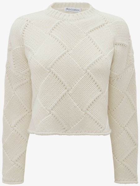 J.W.Anderson Cropped oversize Crewneck