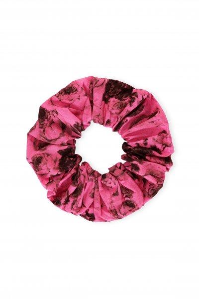 Ganni Pink Printed Scrunchy