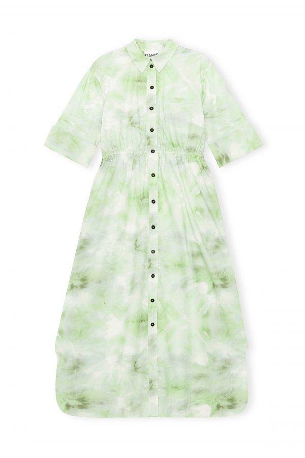 Printer Green Dress