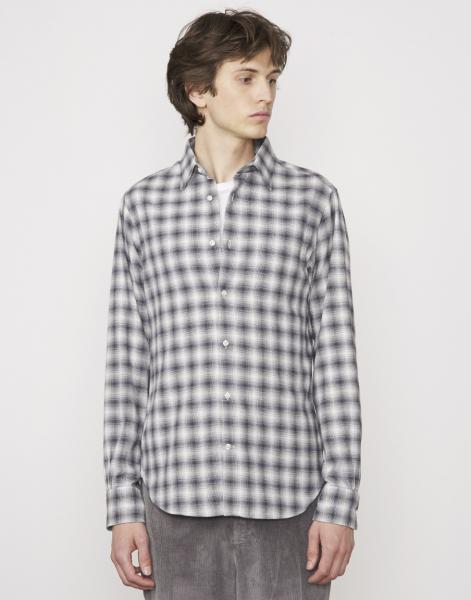Officine Hemd grau/weiß