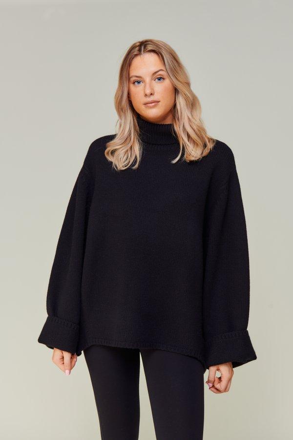 Wool Cashmere Turtleneck black