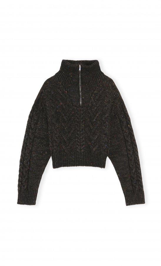 Zipper Sweater black