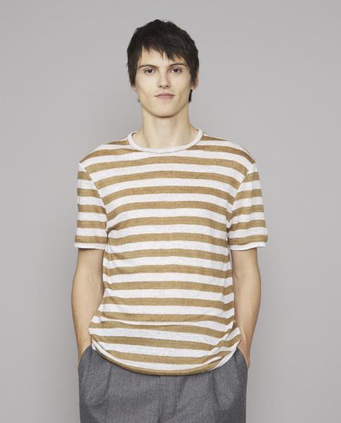 Officine T-shirt braun/weiß