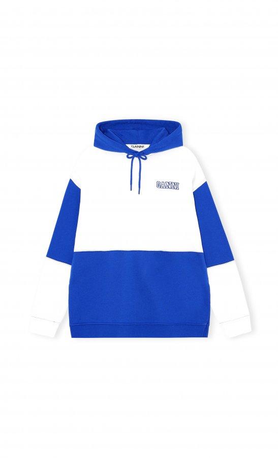 Hoodie blau/weiß