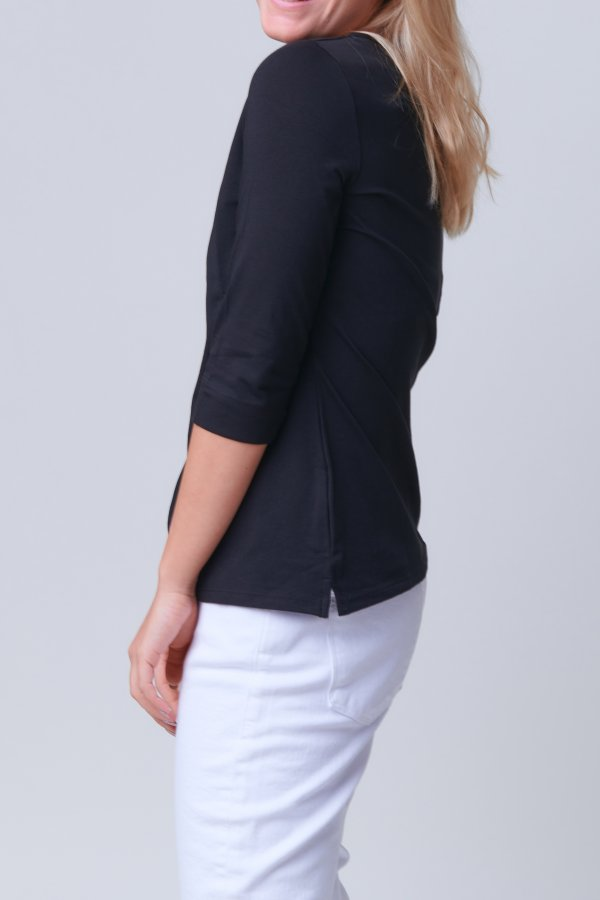 Bridget Bateau Neck black