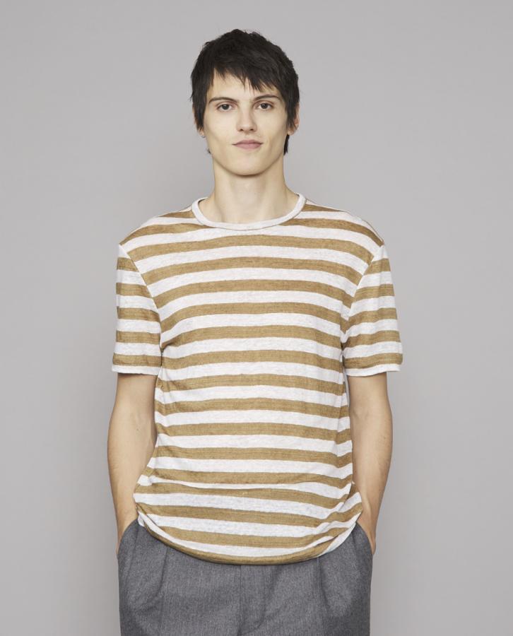 T-shirt braun/weiß
