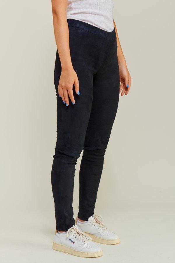 Wildleder Leggings schwarz