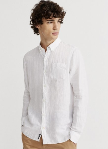 Ecoalf Hemd weiß man