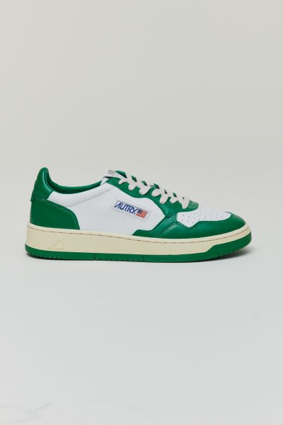 Autry Action shoes Leather white Green Man