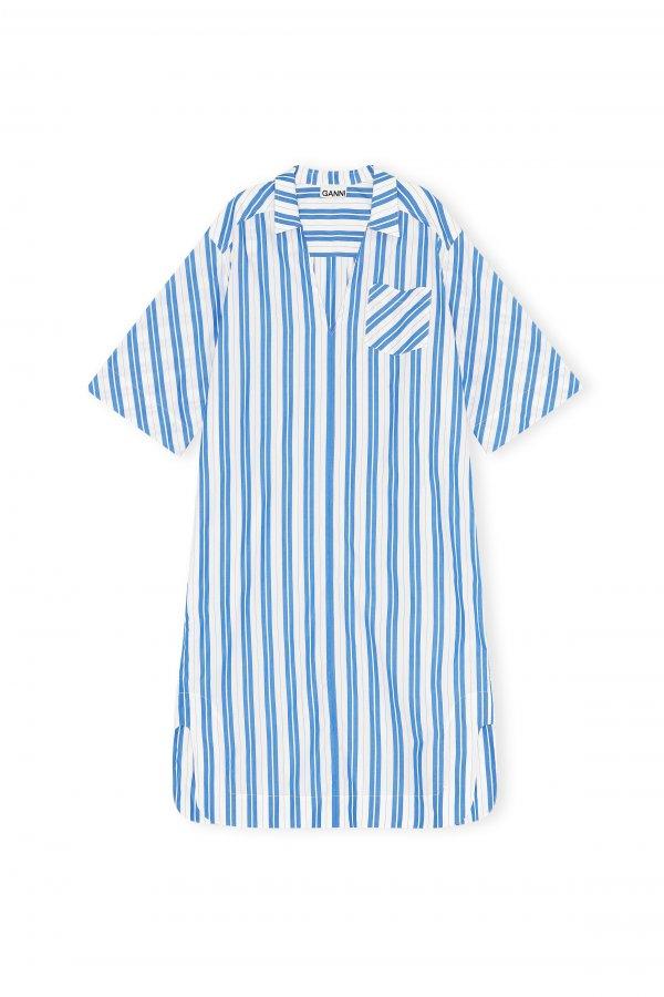 Blaues streifen Kleid