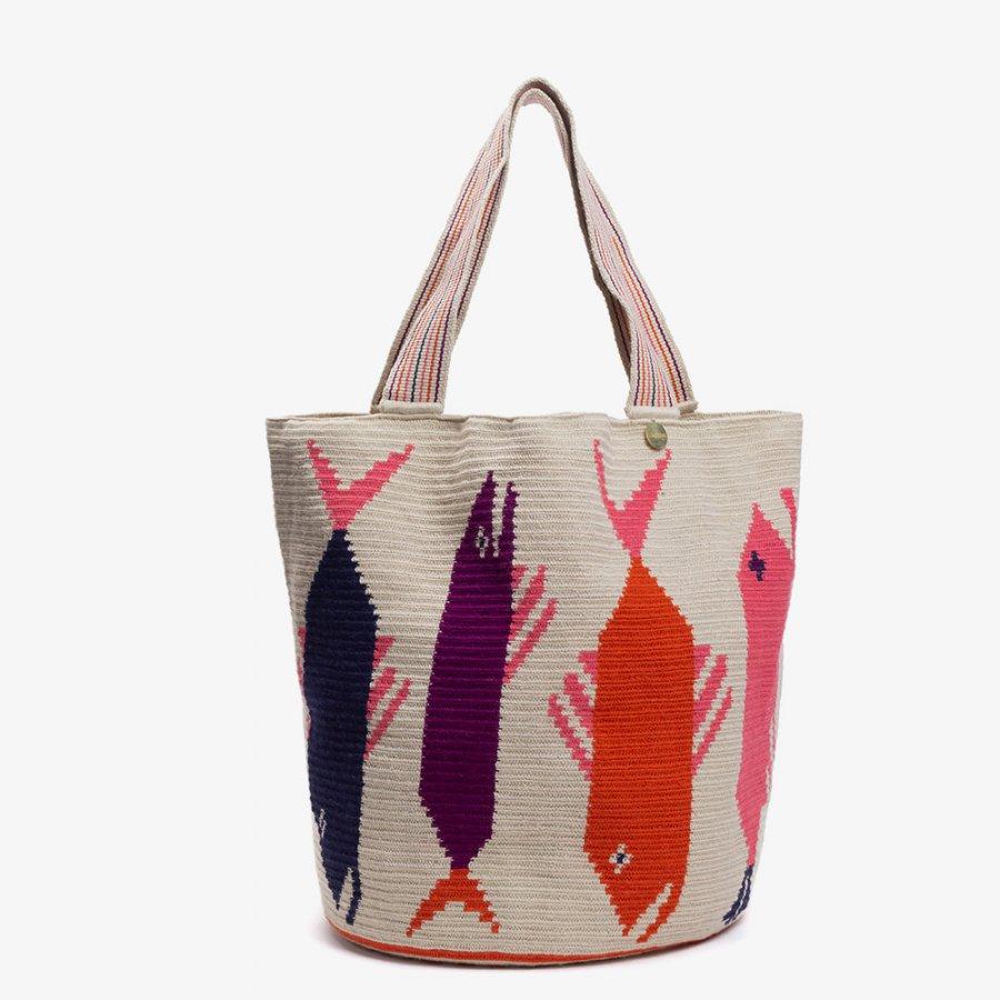 Beach Bag Goldfish white