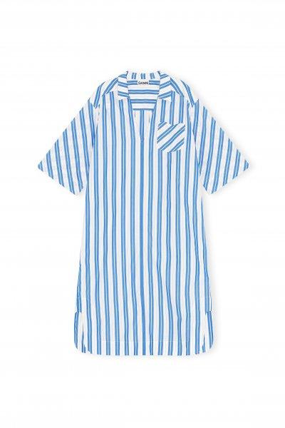 Ganni Blaues streifen Kleid
