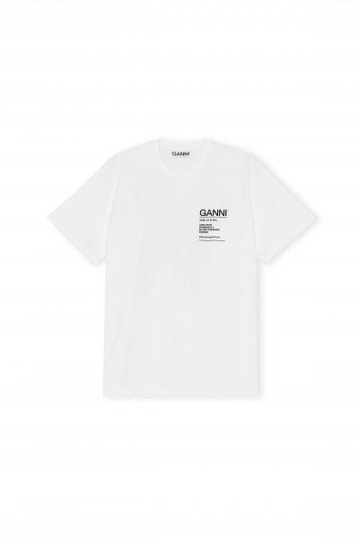 Ganni T-shirt mit Brustaufschrift