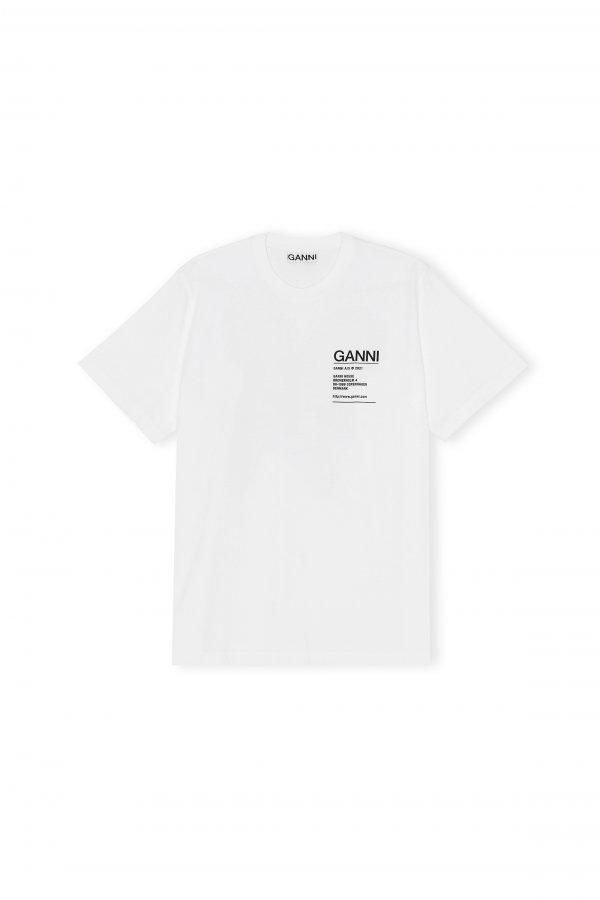 T-shirt mit Brustaufschrift