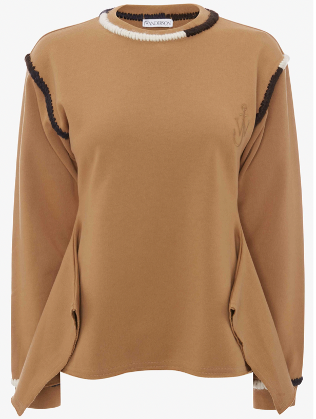 Asymmetric Contrast sweatshirt