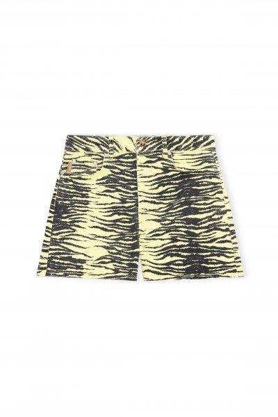 Ganni Shorts Yellow Zebra