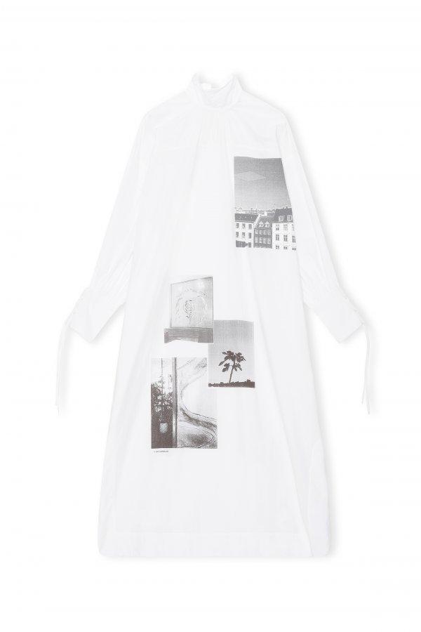 Kleid weiß/black